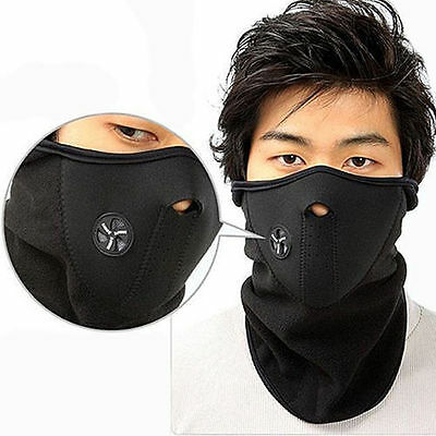 Neoprene Winter Neck Warm Face Mask Veil Sport Motorcycle Ski Bike Biker AU