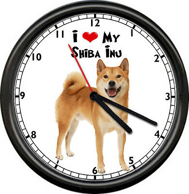 Shiba Inu Hypo Allergenic Amazing Dog Breed Veterinarian Lover Sign Wall Clock