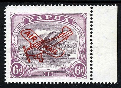 PAPUA 1930 6d. Dull & Pale Purple OVERPRINTED AIR MAIL in Red SG 116 MINT