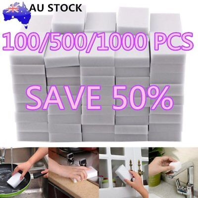 1000pcs White Multi-functional Magic Sponge Eraser Cleaner 100 x 60 x 20mm M2