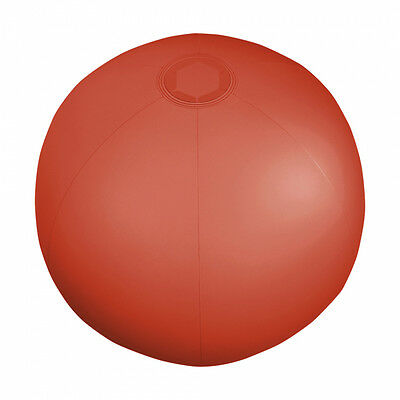 """6 x Translucent Red Inflatable Blowup Beach Ball's 9"""""""