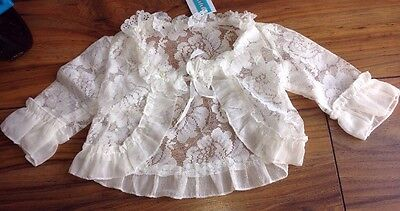 Bnwt Pretty Little Girls Special Occasion Lacey Cardigan/jacket Age 3-4 Years