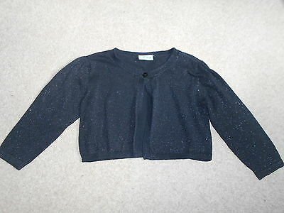 Next Girls Glittery Black Cardigan Age 9/10 Years