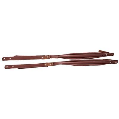 2pcs Coffee PU Leather Shoulder Straps for 16-120 Bass Accordion Replacement