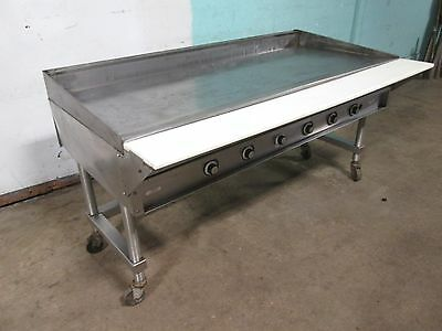 """VULCAN"" HEAVY DUTY COMMERCIAL 72""W NATURAL GAS GRIDDLE/FLAT-TOP GRILL w/STAND"