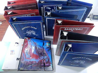 Lot of (14) Used Sports Collector Albums ~ 3-Ring Binders