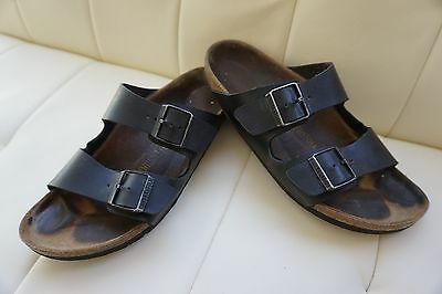Birkenstock Arizona Black Leather Sandals 42 M9