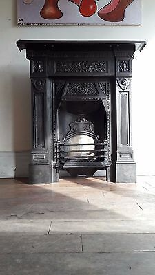 original victorian edwardian cast iron fireplace