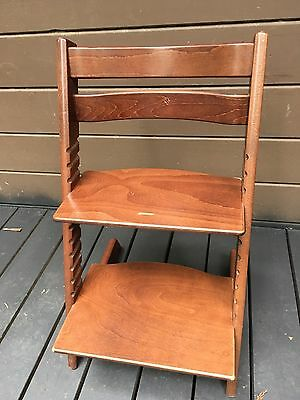 STOKKE, TRIPP TRAPP, Used High Chair/Child Seat, Chestnut + New Harness.