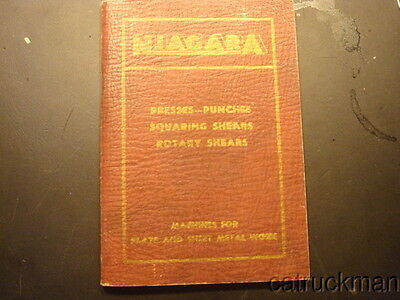 Small Format 68 Page Niagara Equipment Photo Booklet  #106A,  Copyright 1940
