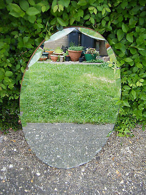 Vintage Style Gorgeous Art Deco Oval Shaped Wall Mirror