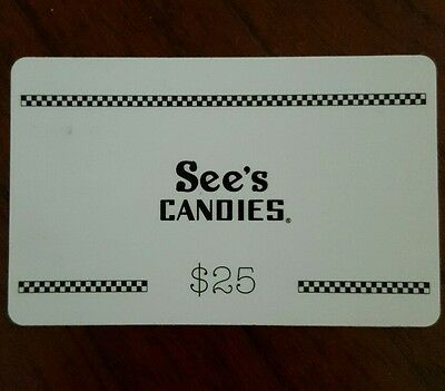 See's Candies Gift Card $25 chocolate candy