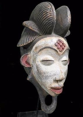 Old Tribal Punu Maiden Spirit  Mask    ---- Gabon BN 38
