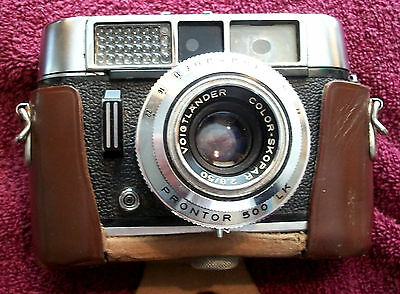 Vintage VOIGTLANDER VITO CLR Camera Original Brown Leather Case, strap missing
