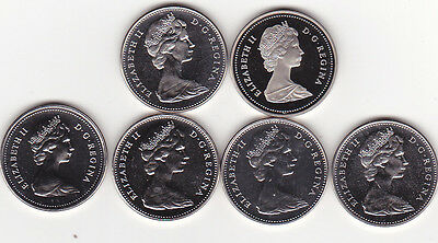 Canada 5 Cents 1966-1967-1977-1978-1979 and 1988