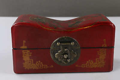 Exquisite Chinese painting flower & bird wooden Jewelry box H685