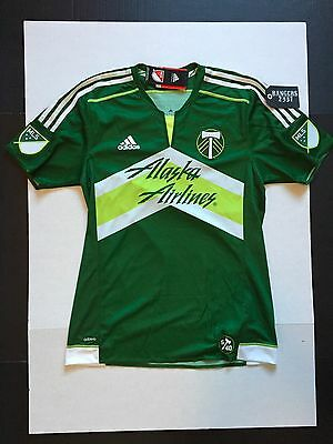 adidas Authentic MLS Jersey Portland Timbers Team Green Mens Size L