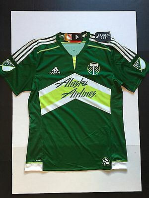 adidas Authentic MLS Jersey Portland Timbers Team Green Mens Size XL