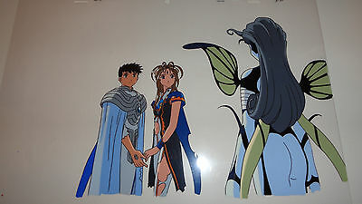 Ah My Goddess Movie anime cel Belldandy, Keichi, Morgan RARE US Seller