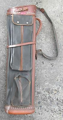 Antique or Vintage Par-Oval Atlantic Products Early Leather Golf Bag