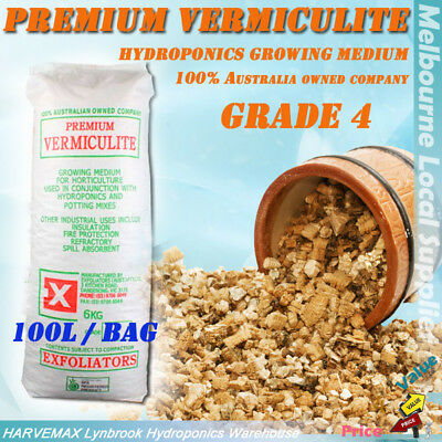 100L Hydroponics Grow Medium Grade 4 Vermiculite Top Quality Plant Grow Media