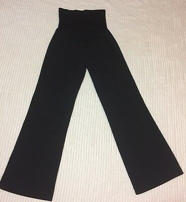 EUC Stretchy Large Maternity Panel Black Office Career Slacks Secret Belly Pants