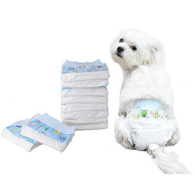10x Disposable Travel Pet Dog Puppy Diapers Nappies Underwear Sanitary Pant XS-L