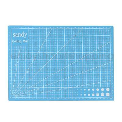 A4 Cutting Mat Non Slip Sewing Carve Board Printed Grid Lines Board Blue