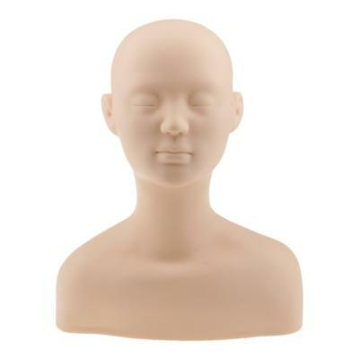 Soft Silicone Training Mannequin Head Makeup Massage Practice Head Shoulder