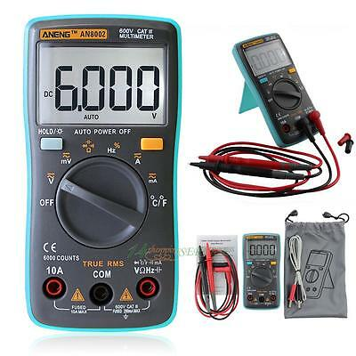 ANENG Digital Multimeter 6000Counts Backlight AC/DC Ohm Ammeter Temperature USA