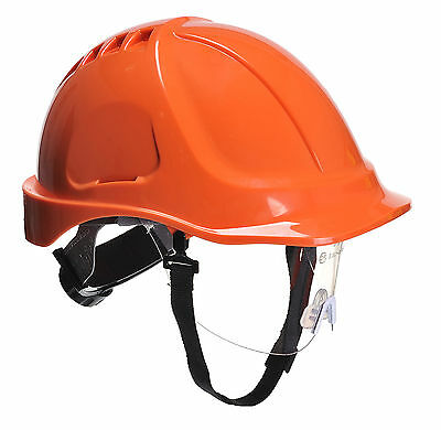 PortWest Herren Ausdauer Plus Visier Helm Orange/R. Blau/Rot/weiß/Wellow PW54