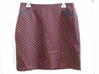 NWT Talbots Navy and Red Dot Pencil Skirt Size 12P