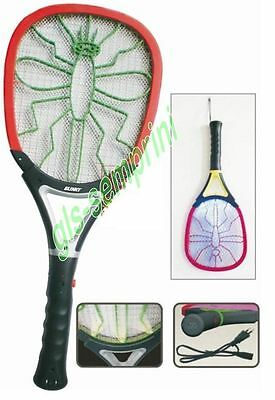 Bug Zapper Racket Electronic Mosquito Insects Handheld Rechargeable 1W Blinky