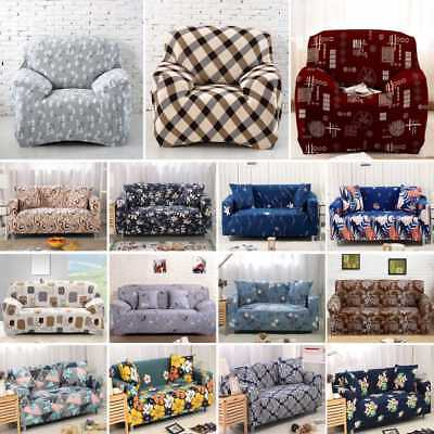 1/2/3 Seater Floral Modern Stretch Sofa Slipcover Protector Soft Couch Cover
