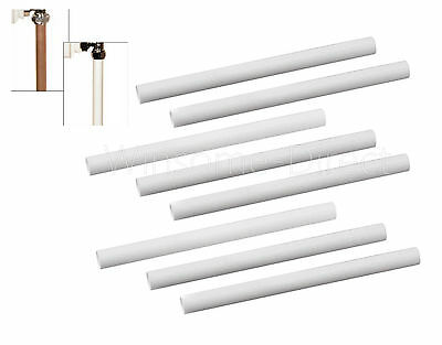 8 x 15.6 cm White Plastic Radiator Sleeves Pipe Cover Ring Laminate Shrouds Snap