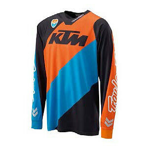 2017 KTM by Troy Lee Design Mens SE Slash Jersey - Black/Orange 3PW172340 Motocr