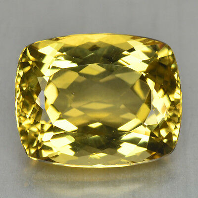 9.96 Cts FANCY QUALITY GOLDEN YELLOW COLOR NATURAL HELIDOR BERYL GEMSTONES