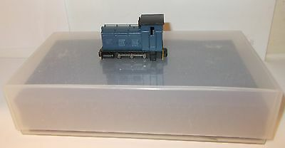 Kit Built (Farish China Chassis) - 0-6-0 Diesel Shunter, Blue.(009 Narrow Gauge)