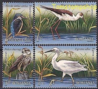 Romania 2009 UNESCO/Danube Delta/Birds Kingfisher Stilt Egret Eagle 4v set MNH/2