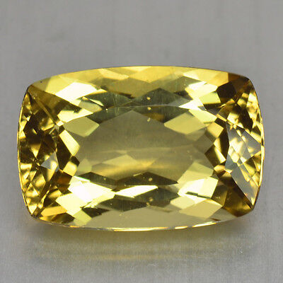 6.85 Cts FANCY QUALITY GOLDEN YELLOW COLOR NATURAL HELIDOR BERYL GEMSTONES