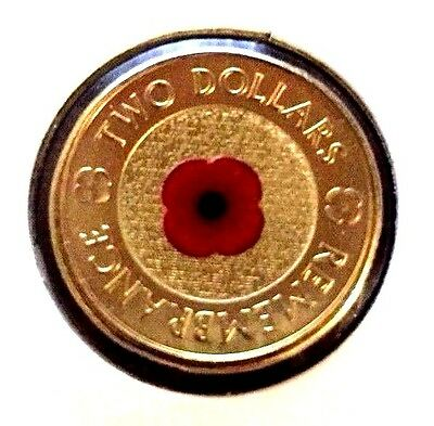 2012 Australian $2 Two Dollar Red Poppy Remembrance Coin Ex Roll UNC