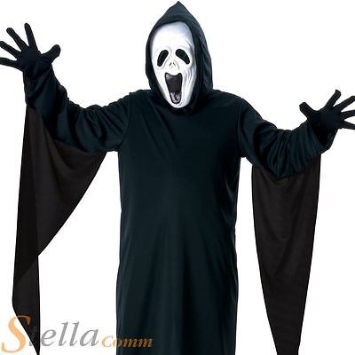 Boys Howling Ghost Costume Halloween Fancy Dress + Mask Child Outfit