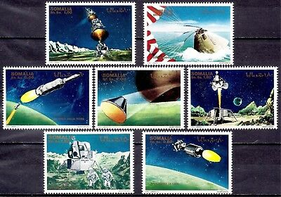 Somalia 1970 Space Exploration Moon Landing Apollo XI Astronauts Parachute  MNH