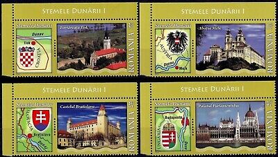 Romania 2010 Danube Arms Fortress Abbey Castle Parliament Palace Building Map NH