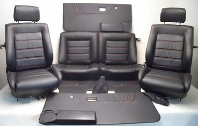 VW Golf 1 Cabriolet Faux leather covers for the Interior Seats black