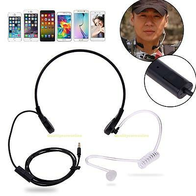 1 Pin 3.5mm Throat MIC Headset Covert Air Tube Earpiece for Mobile Phones iPhone