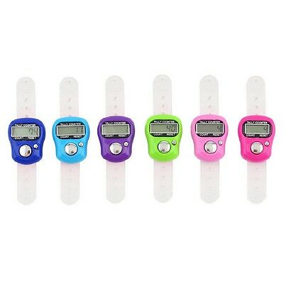 Random Color Electronic Row Counter Finger Digit Stitch Marker LCD Tally Counter