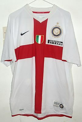 Inter 2008 Centenary Football Shirt By Nike Large #23 Materazzi Rare