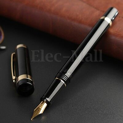 2017 Model Wing Sung 698 Piston Black Golden Fountain Pen 0.5mm Softer Nib GIFT