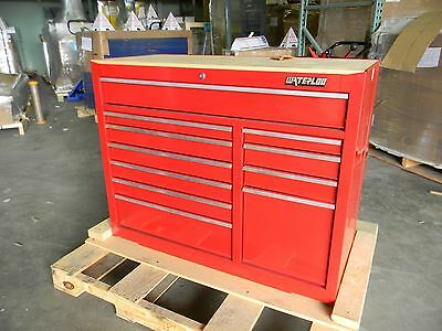 """Waterloo 38"""" 11 Drawer Red Toolbox 700 lbs cap Toolchest Storage Roller Cabinet"""